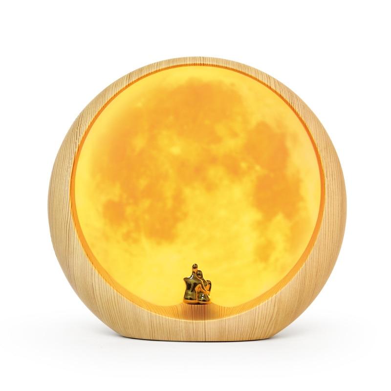 Luna lámpara de escritorio regalo de boda Usb carga Led luz de noche decoración del hogar regalo creativo