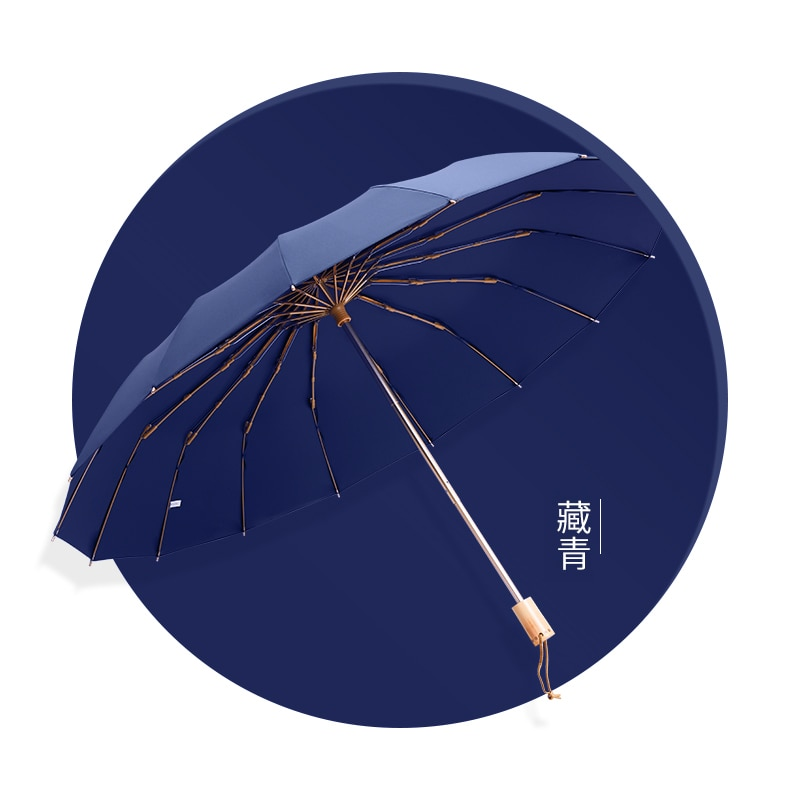 Fashion Retro Folding Umbrella High Quality Outdoor Patio Umbrellas Parasol Rain Protection Guarda Chuva Rain Gear BS50YS enlarge
