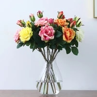 2 artificial flowers moisturizing roses hotel home decoration fake bouquets photography props silk flowers