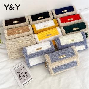 Y&Y Hand-woven Wool Bag Diy Handmade Bag Homemade Material Bag Women Shoulder Crossbody Bags Ins Wool Female Shoulder Bag