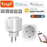 Tuya     ampoule connectee  WiFi  Bluetooth  pour Apple Homekit  eclairage LED  prise ue  Compatible avec Amazon Alexa Google Home