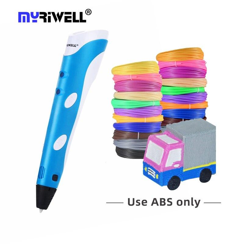 Myriwell 1.75 مللي متر ABS ثلاثية الأبعاد رسم أقلام تصميم أفضل لتقوم بها بنفسك هدية للأطفال مبتدئين ثلاثية الأبعاد طقم أقلام الطباعة
