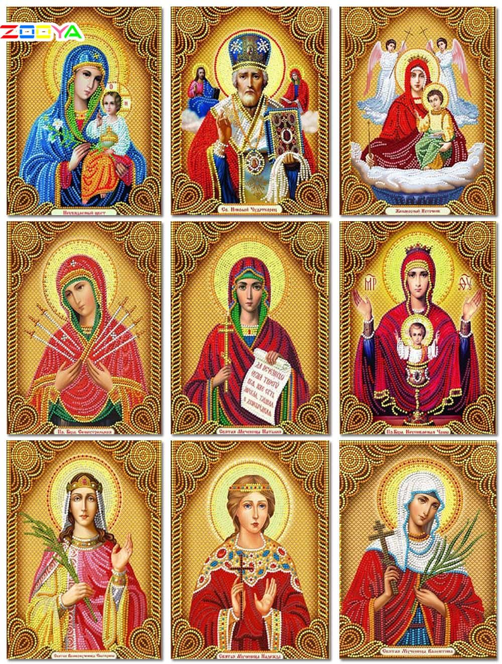 5D Diamant Malerei Madonna Voll Platz Religion Strass Diamant Mosaik Stickerei Verkauf Kreuz Stich Wohnkultur Geschenk 3Zj08