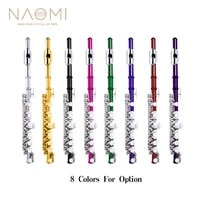 naomi professional key of c piccolo set nickel plated keys wcarrying bagjoint greasecleaning clothrodgloves