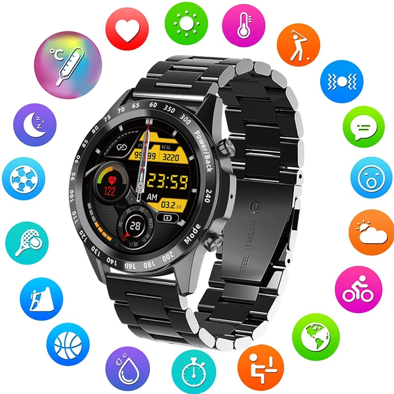 2021 New Smart Watch Men Heart Rate Blood Pressure Smart Clock Exercise Fitness Tracker Dial Call Sm