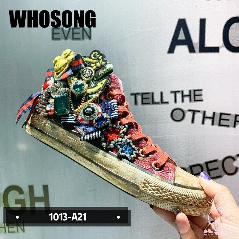 أحذية رياضية نسائية غير رسمية ، أحذية قماشية ، نعل مسطح مرصع بأحجار الراين ، أحذية رياضية ذات علامة تجارية ، Zapatos De Mujer