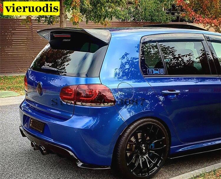 Carbon Fiber Car Rear Roof Spoiler Boot Lip Wings For Volkswagen VW Golf 6 VI MK6 R20 GTI 2010-2013 O Style