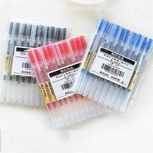 10pcs/set Gel Pen Black/Blue/Red Ink Color Pens 0.5mm 0.38mm Pens for student writing School Stationary