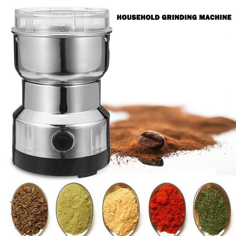 Электрическая кофемолка многофункциональная для дома, измельчитель для кофе, зерен, орехов, специй   Бытовая техника   АлиЭкспресс