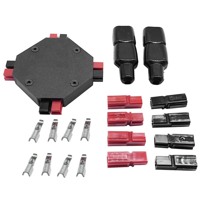 Portable PowerPole Power Splitter 4-CH Power Supply Distributor for HAM Radio Accessories X6HA