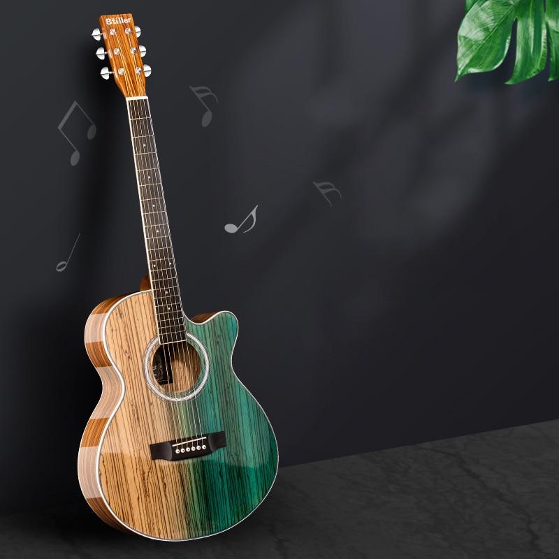 Slide Vintage Guitar Acoustic Travel Semi Hollow Professional Guitar High Quality Guitarra Acustica Musical Instruments DE50JT
