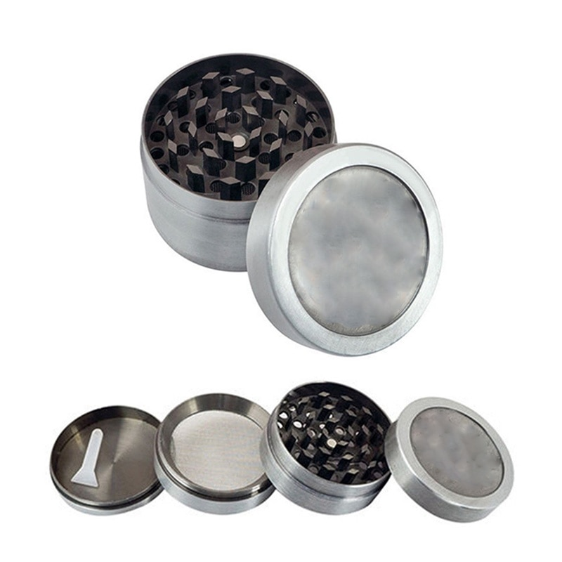 Metal Stainless Steel 3-4 Layer Tobacco Cigar Grinder Leaf Magnetic Design Vintage Metal Herbal Herb Grinder Crusher Gadgets