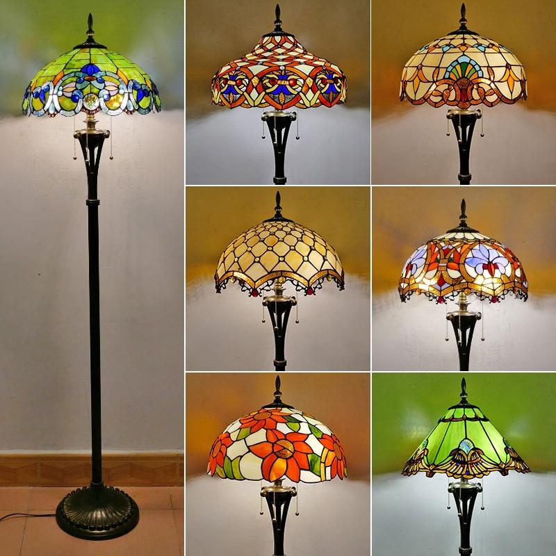 مصباح حديقة ريترو على الطراز الأوروبي ، مصباح زجاجي ملون على الطراز الأوروبي ، لغرفة المعيشة ، غرفة الطعام ، غرفة النوم ، المكتب ، البار