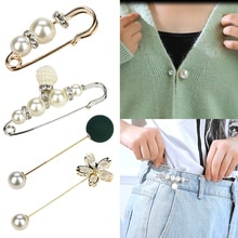 Brooch Set Big Beads Fashion Clothes Brooches For Women Pearl Lapel Pin Sweater Dress Brooch Pins Ba