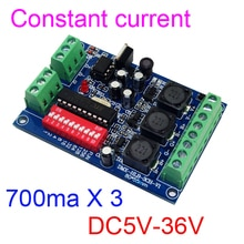 DYKB DMX512 RGB 3 Kanal DMX Decoder modul DC 5v-36V 12v Konstante Strom 700mA Controller high-power fahrer led lampe licht