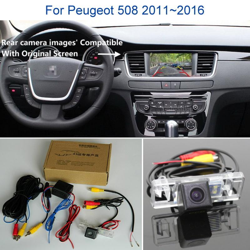 كاميرا الرؤية الخلفية لبيجو 508 ، 2011 ~ 2016 ، كاميرا خلفية ، مجموعات RCA والشاشة الأصلية متوافقة