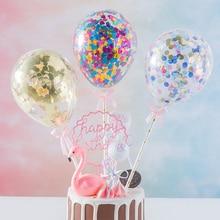 Nouveau 5 pouces confettis paillettes ballon décoration de gâteau Mini Sequin Latex ballon artisanat pour gâteau décoration de gâteau gâteau danniversaire mariage