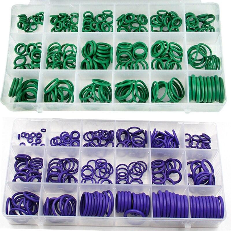 270 шт. 18 размеров, универсальные автомобильные уплотнительные кольца HNBR для кондиционирования воздуха, инструменты для ремонта автомобиля, ...