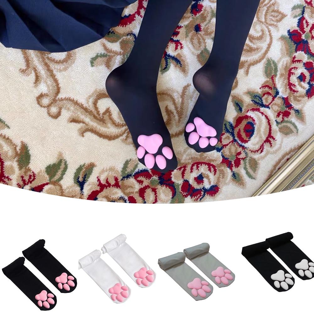 New Cat Paw Socks for Women Girls Kawaii 3D Cat Claw Toe Beanies Cute Gift Lolita PawPads Cosplay Ca