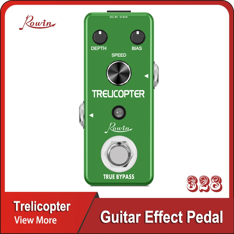 mooer ge100 guitar mutil effects processor guitar accessories Rowin Guitar Trelicopter Effects Guitar Tremolo Pedal