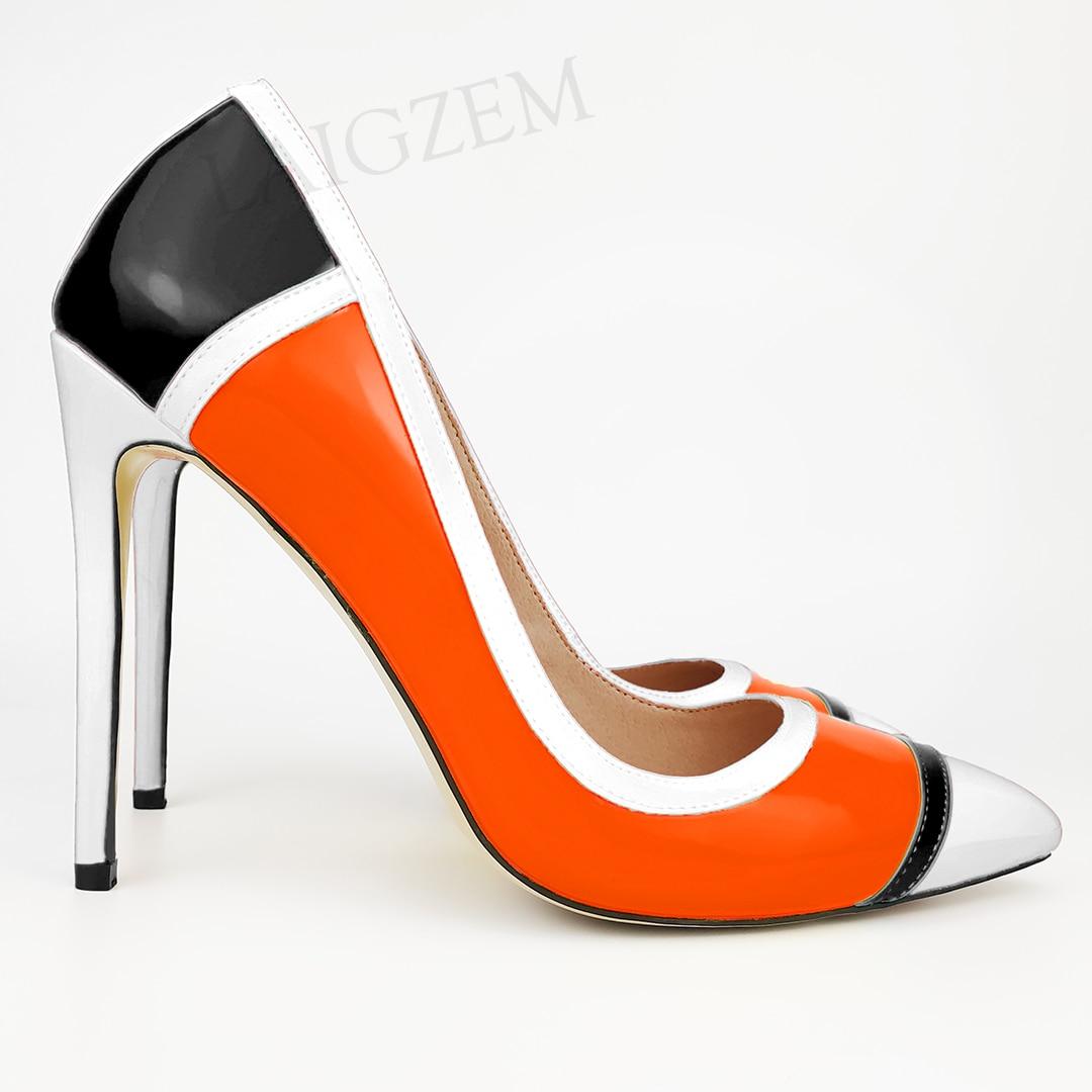 Zapatos de tacón Alto LAIGZEM para mujer, tacones altos coloridos, Stiletto para mujer, vestido para las 4 estaciones, zapatos de fiesta, Salto Alto, talla 34 43 45 46 47