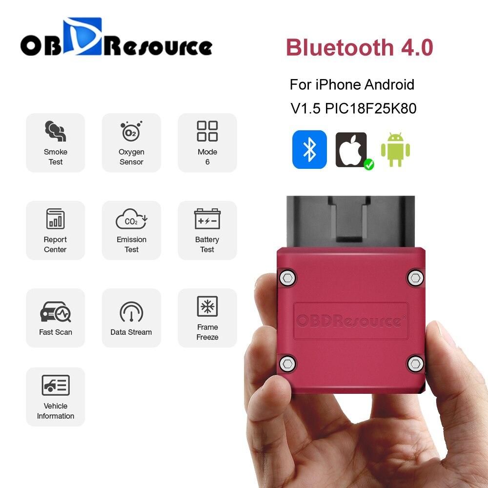 Автомобильный диагностический сканер P02 ELM327 V1.5 OBD2 сканер PIC18F25K80 Bluetooth ELM 327 OBD диагностический инструмент для Android /IOS Faslik PK Vgate считыватель код...