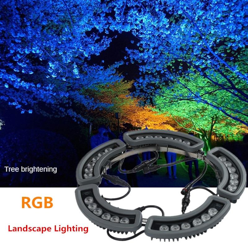 Street Light Fixtures Outdoor Landscape Lighting Splicing Led Tree Holding Lamp 30W DC24V Lawn Lamp Garden Lighting Decoration