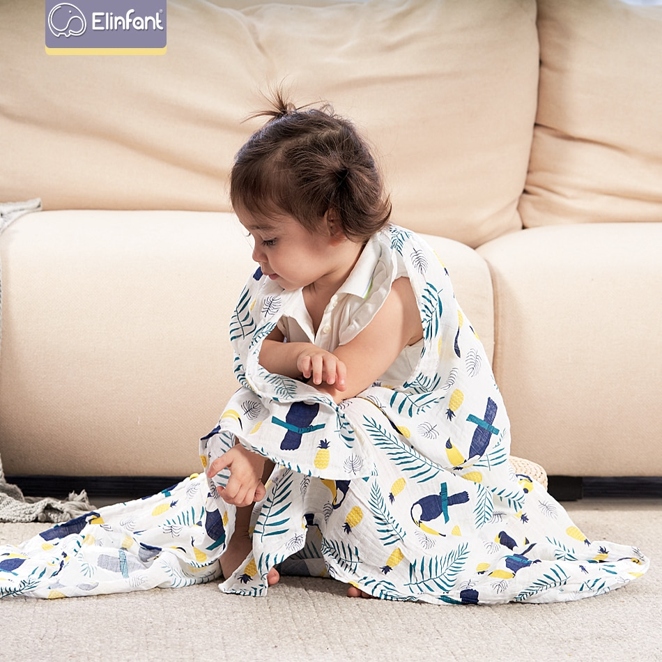 Mantas lavables Elinfant de muselina de algodón para bebé recién nacido mantas de gasa blanco y negro Toalla de baño envío gratis