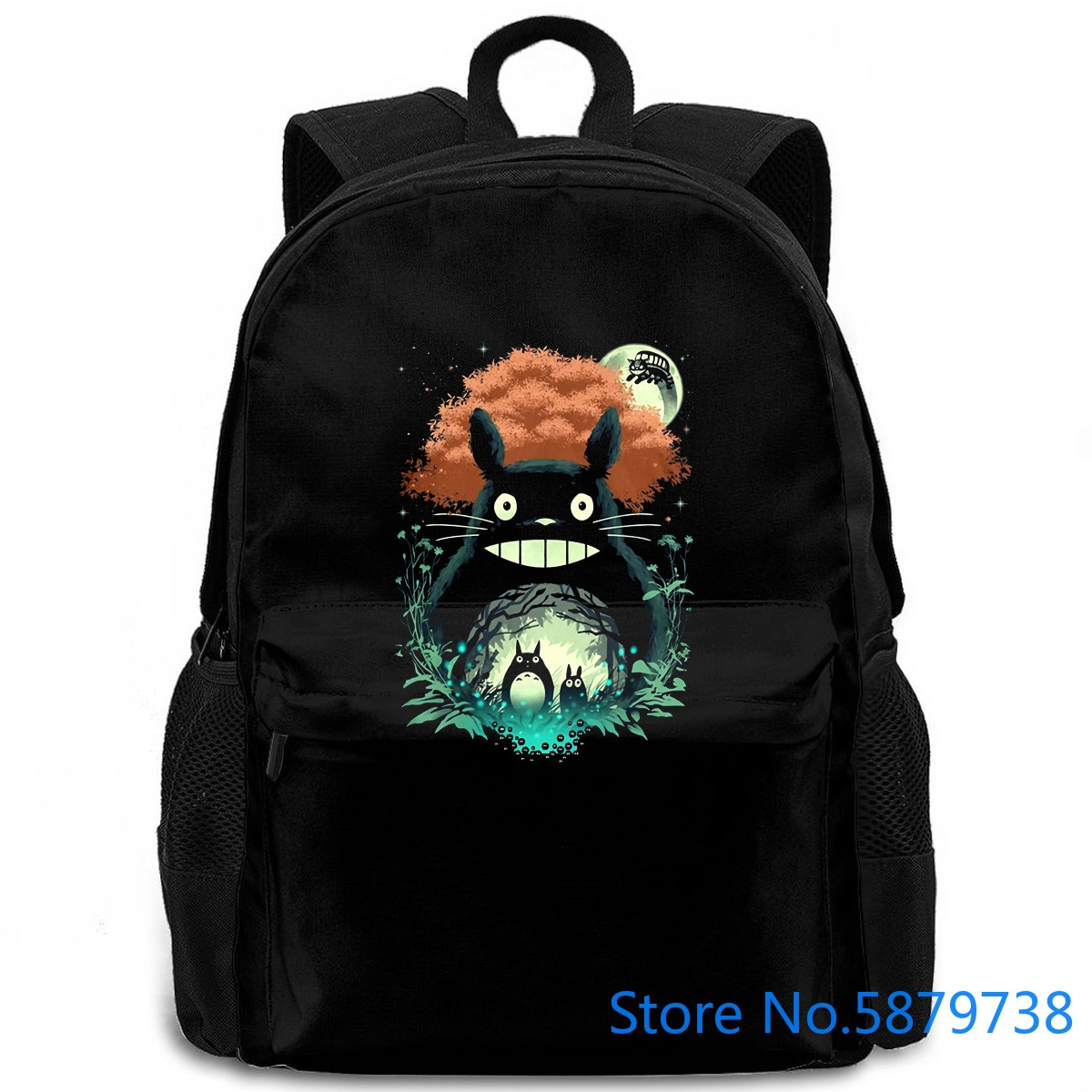 Totoro Art , Studio Ghibli Anime, diseño All s dibujos animados mujeres hombres mochila portátil viaje escuela estudiante adulto