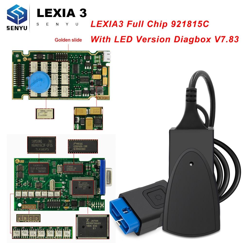 Lexia 3 Volle Gold Chip 921815C PP2000 Diagbox V 7,83 Lexia3 PP 2000 Für Citroen/Peugeot OBD OBD2 Auto diagnose Auto Scanner Tool