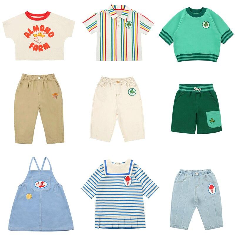 2020 New Summer Bebe Brand Kids T Shirts for Boys Girls Cute Cartoon Print Short Sleeve T Shirts Baby Child Tops Tees Clothes