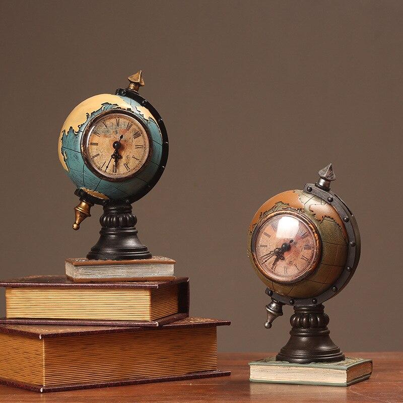 Новые американские украшения в стиле ретро, часы для дома, гостиной, крыльца, украшение для офиса, настольное украшение