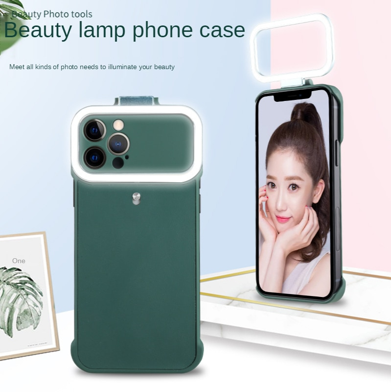 anel de luz led caixa do telefone para o iphone x xs xr 7 8 6 plus selfie lanterna