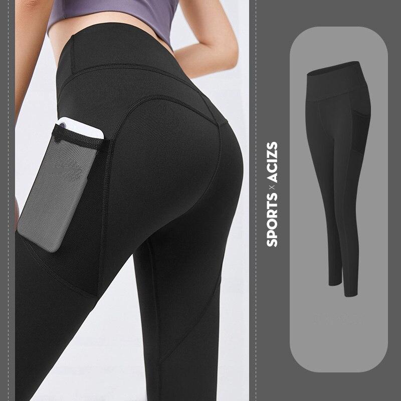 Pantalones De Yoga Con Bolsillo De Talla Grande Para Mujer, Mallas Deportivas...