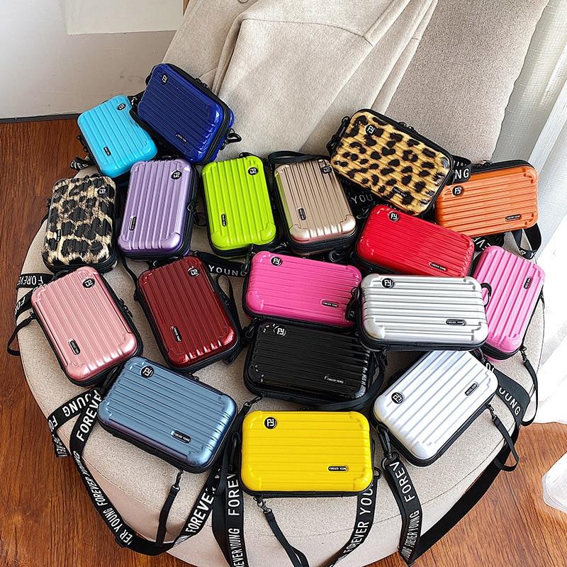 2021 Mini luggage bag small messenger bag personality creative portable tik talk the same female mob