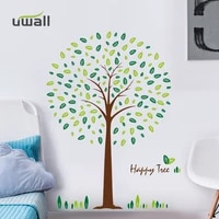 pvc creative leaves tree wall stickers home decor living room bedroom skirting wall decoration self adhesive room decor sticker