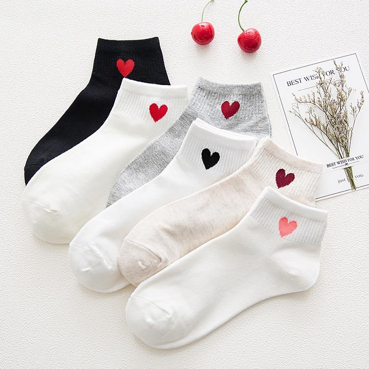 Женские носки Весна-Лето корейские женские хлопковые Дышащие Короткие персиковые сердца впитывающие пот женские носки оптом