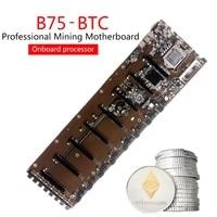 67ja brand new onboard b75 btc hm77 chipset vga hdmi compatible 8 gpu bitcoin motherboards for miner desktop motherboard