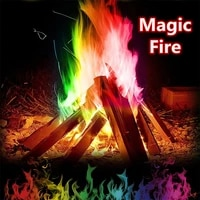 10g15g25g30g magic fire with msds credential colorful flames outdoor camping powder bonfire sachets pyrotechnics trick hiking