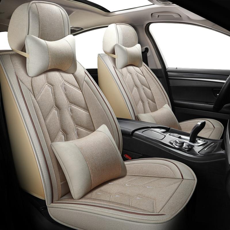 KADULEE FLAX car seat cover set for suzuki baleno peugeot 607 hyundai creta ix25 citroen ds4 ds5 ds7 ds3 seat cover cars