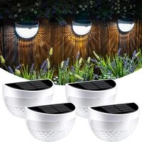 summer led solar light outdoor wall lamps semi circular energy saving energy lamps waterproof courtyard garden decoration light