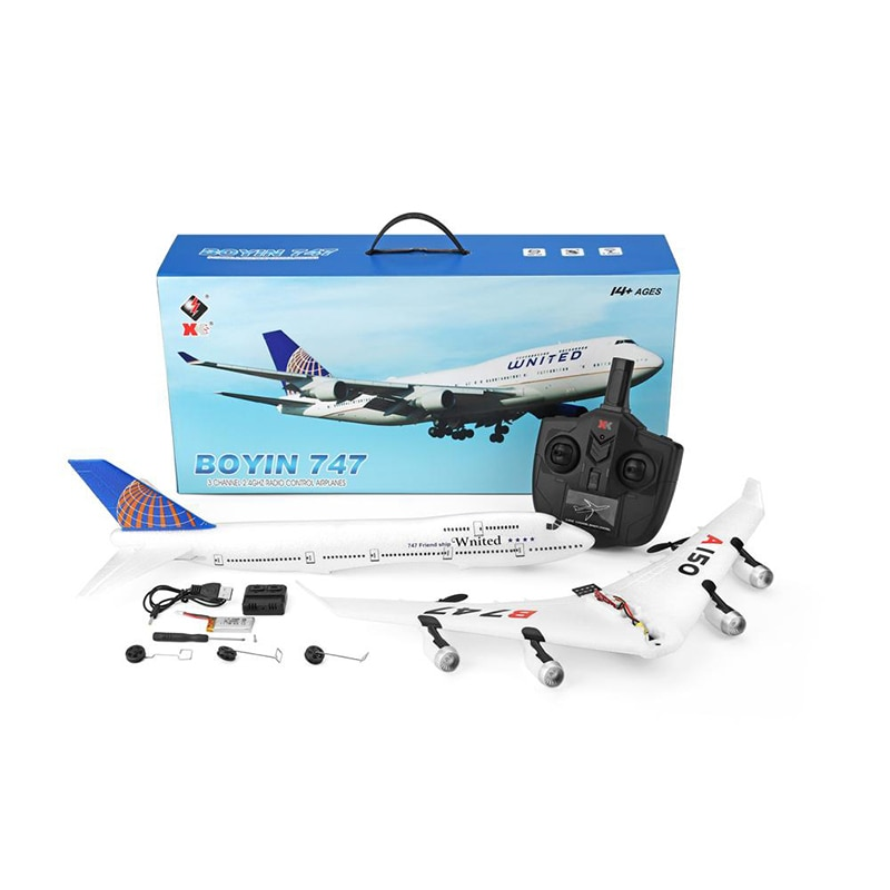WLtoys XK A150-C YW Boeing B747 510mm RC Plane Wingspan 2.4GHz 2CH EPP RC Airplane Fixed Wing Model