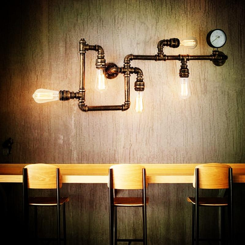 Современсветильник Настенные светильники в скандинавском стиле в стиле индастриал, настенные лампы с дистанционным управлением для фойе, ...