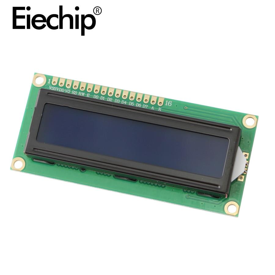 Lcd1602 display 5v retroiluminado azul/amarelo verde 1602 tela lcd iic/i2c módulo de interface pcf8574 placa de expansão para arduino