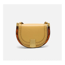 2021 summer new fashion luxury big brand messenger bag cowhide saddle bag shoulder bag handbag small square bag half moon bag