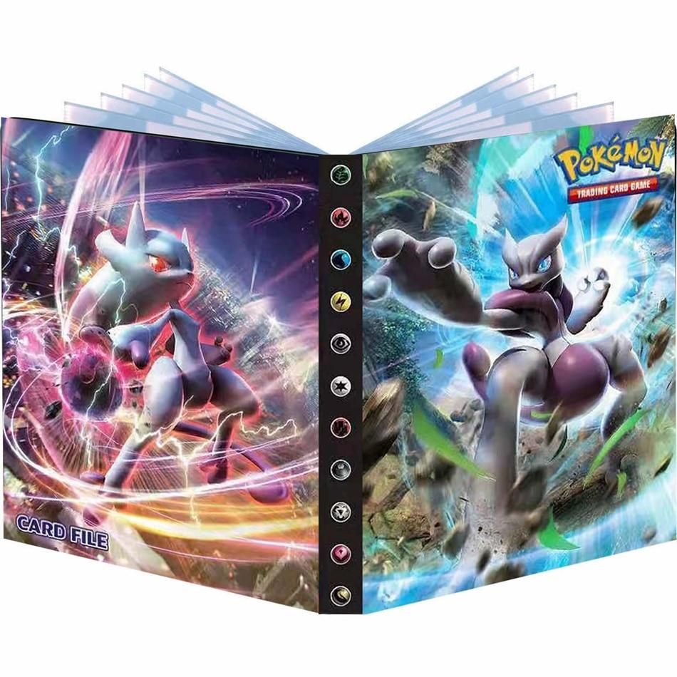 240pcs Album Pokemon Playing Game Card Holder Binder Cartoon Anime Map Card Book Folder Loaded List