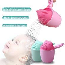 Leuke Cartoon Shampoo Cup Baby Lepel Douche Bad Water Todder Wassen Baby Watering Acessories Kids Haar Zwemmen Tool Fles H r1S3