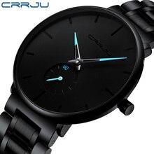 2021 Wristwatch For Man CRRJU Top Brand Luxury Stainless Steel Waterproof Clocks Men Watch Business