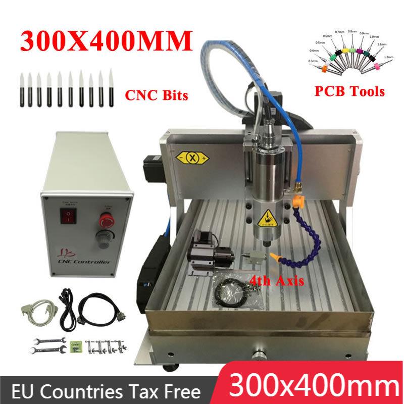 راوتر نقش CNC 3040 ، 800 واط ، 1.5KW ، 2.2KW ، 4 محاور ، منفذ USB ، آلة طحن المعادن والخشب ، ER11 ER16 ، مجموعة تحكم Mach3