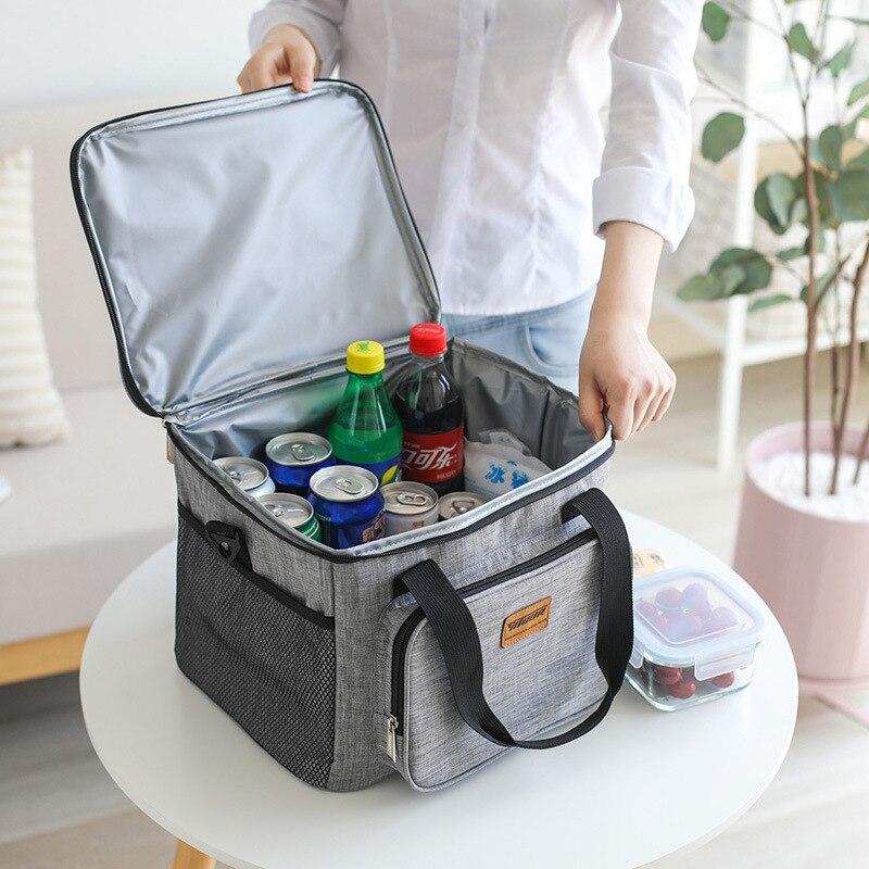 Mihawk viajes térmica refrigerador bolsas de almuerzo de Picnic de bebidas de alimentos beber mantenimiento fresco organizador aislado caja contenedor caso suministros